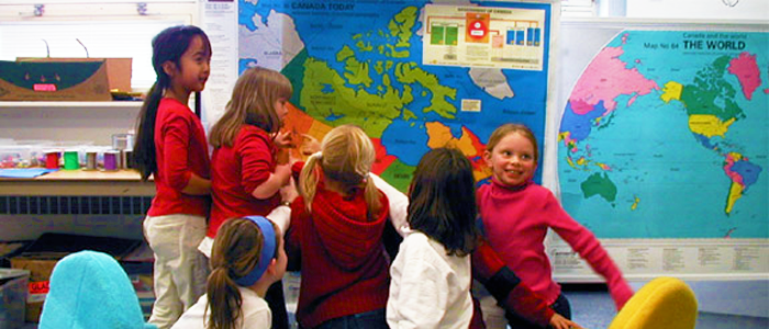 Children in a classrom
